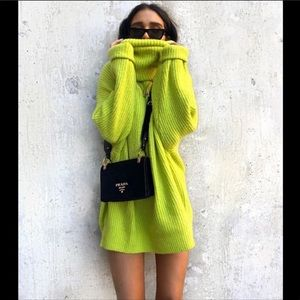 ZARA Neon Oversized Sweater NWT